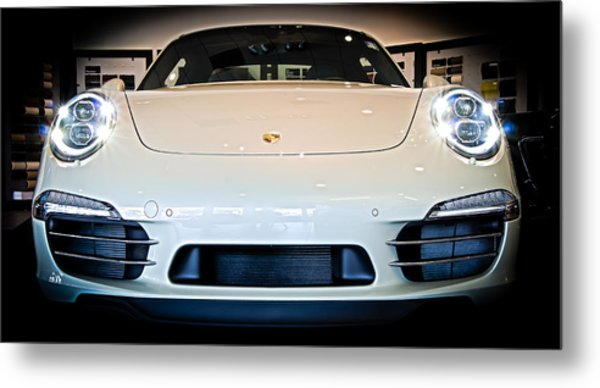 Porsche 911 50th Front With Led's Metal Print