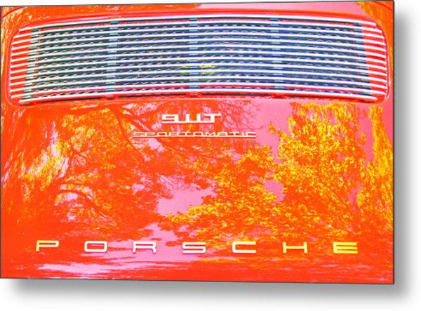 Porsche 911t Reflections Metal Print