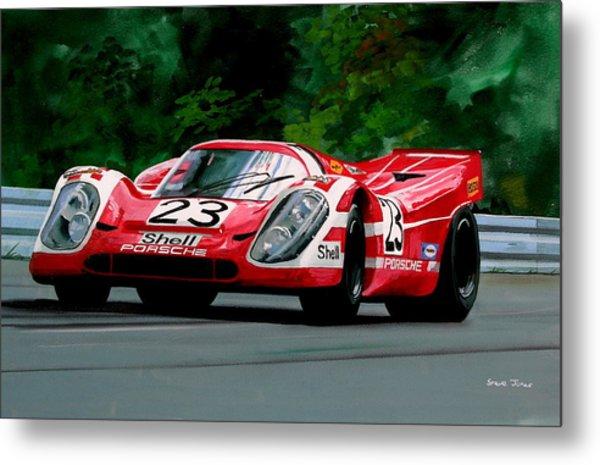 Porsche 917  Le Man Winner Metal Print