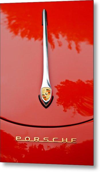 Porsche Hood Emblem -0516c Metal Print