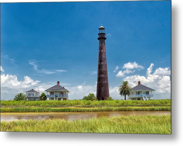 Port Bolivar Lighthouse Metal Print
