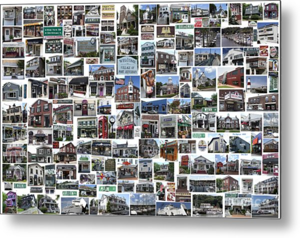Port Jefferson Photo Collage Metal Print
