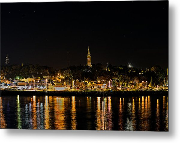 Port Lights Metal Print