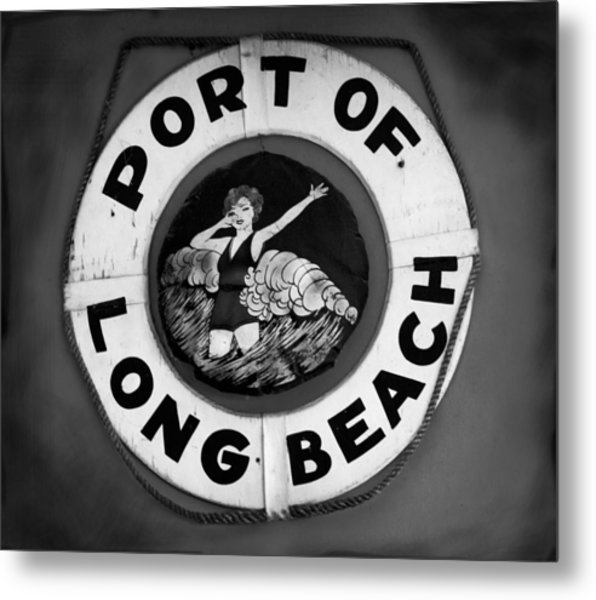 Port Of Long Beach Life Saver By Denise Dube Metal Print