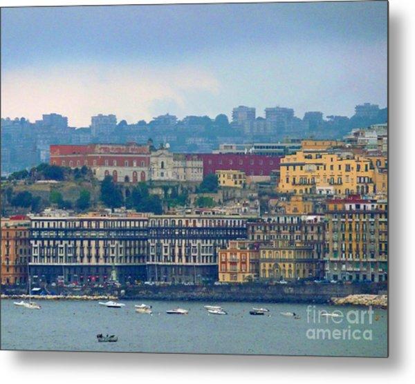 Port Of Napoli Metal Print