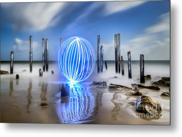 Port Willunga Orb Metal Print by Shannon Rogers