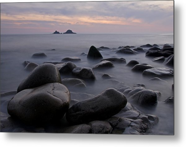 Porth Nanven In Cornwall Metal Print