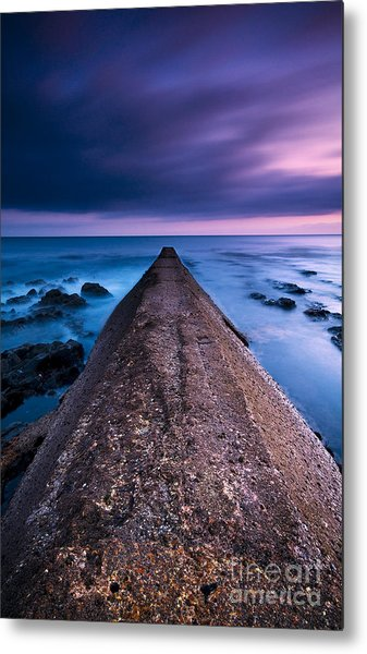 Porthleven Sunset Metal Print