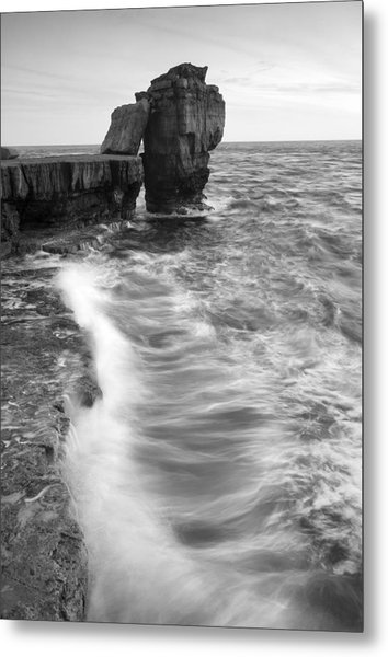 Portland Bill Seascape Metal Print