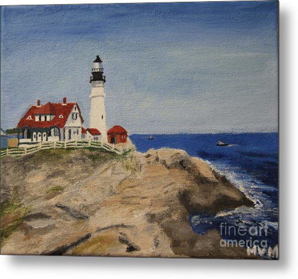 Portland Head Lighthouse In Maine Metal Print