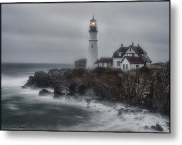 Portland Head Nor'easter Metal Print