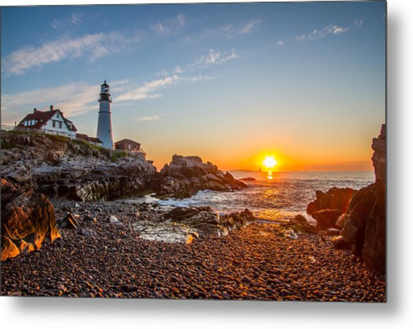 Portland Head Sunrise Metal Print