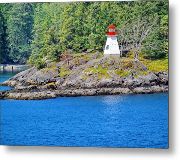 Portlock Point Lighthouse In British Columbia Metal Print