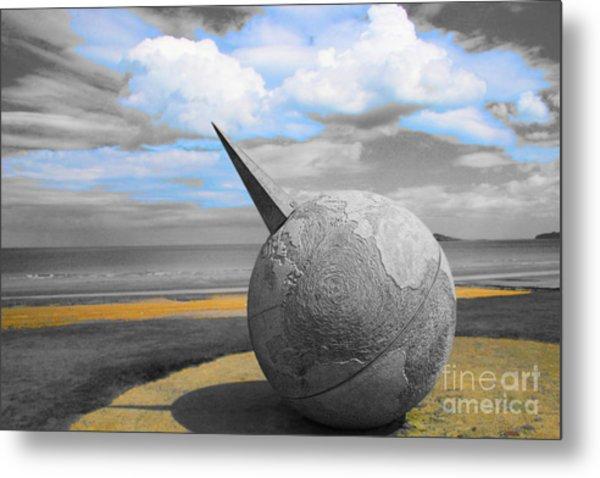 Portmanuck Sphere Ireland Metal Print by Jo Collins