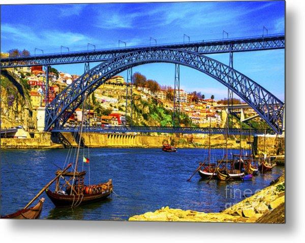 Porto Barges Metal Print