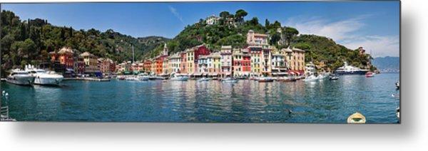 Portofino Big Panorama Metal Print by Phooey