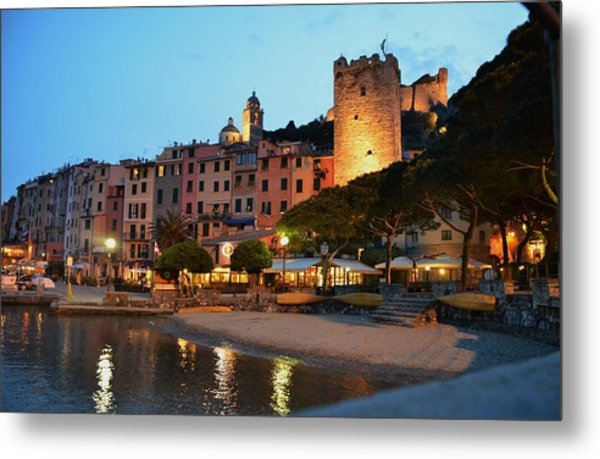Portovenere At Night Metal Print