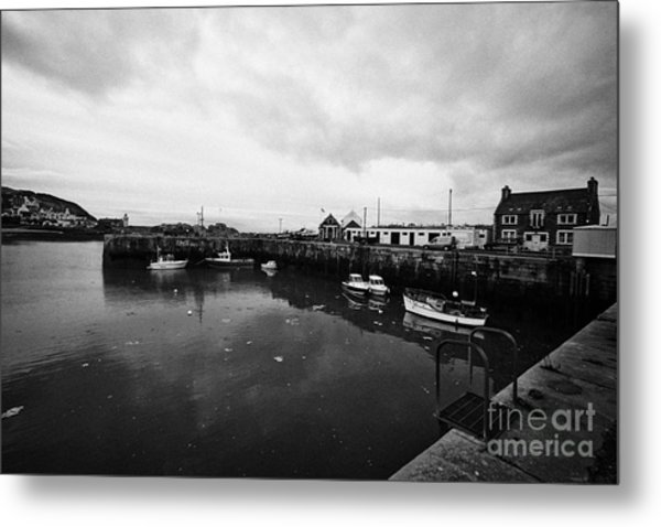 Portpatrick Harbour Scotland Uk Metal Print by Joe Fox
