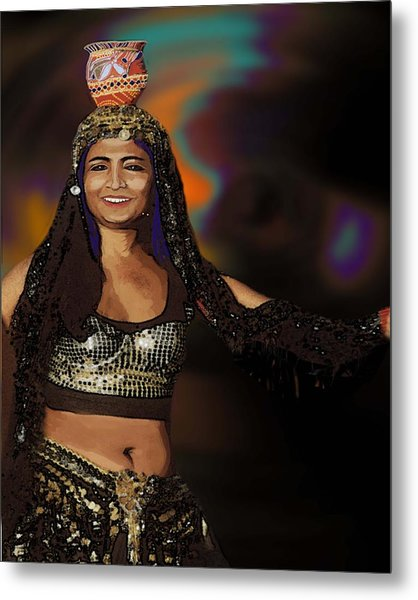 Portrait Of A Belly Dancer Metal Print