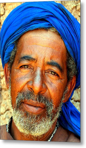 Portrait Of A Berber Man  Metal Print by PIXELS  XPOSED Ralph A Ledergerber Photography