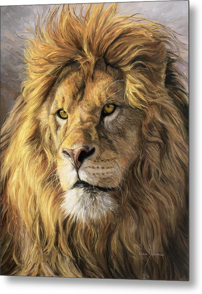 Portrait Of A Lion Metal Print