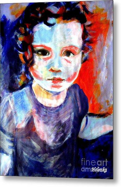 Portrait Of A Little Girl Metal Print