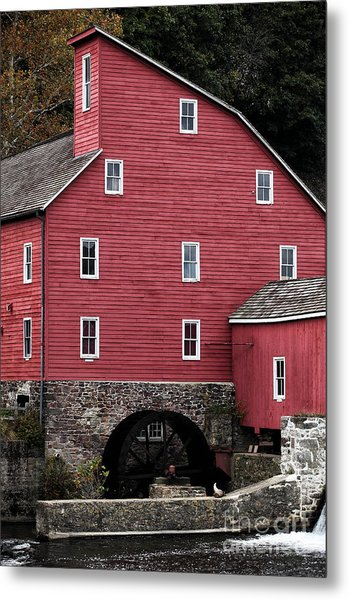 Portrait Of A Red Mill Metal Print by John Rizzuto