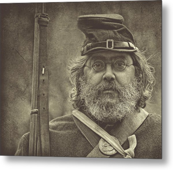 Portrait Of A Union Soldier Metal Print by Pat Abbott