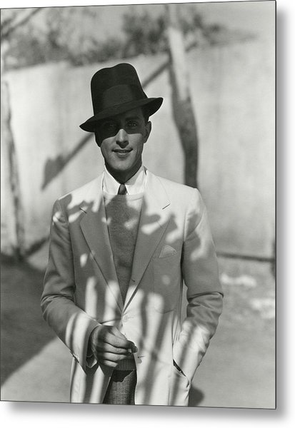 Portrait Of Actor Phillips Holmes Metal Print by George Hoyningen-Huene