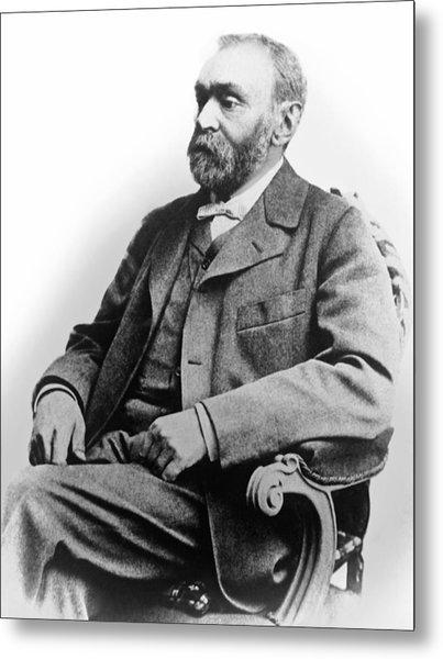 Portrait Of Alfred Nobel Metal Print