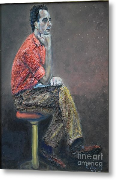 Portrait Of Ali Akrei - The Painter Metal Print