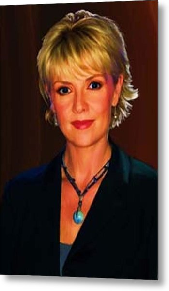 Portrait Of Amanda Tapping Metal Print