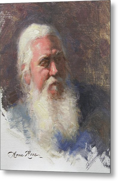 Portrait Of Artist Michael Mentler Metal Print