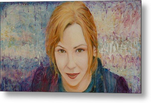Portrait Of Kat Magda Metal Print