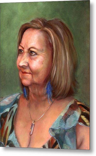 Portrait Of Lana Metal Print by Terri  Meyer