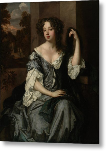Portrait Of Louise De Keroualle, Duchess Of Portsmouth Metal Print by Litz Collection