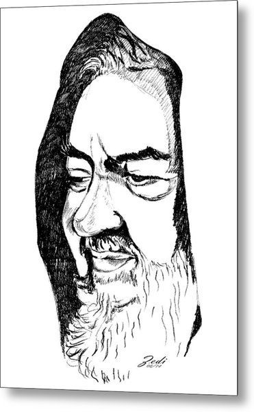 Portrait Of Padre Pio Metal Print