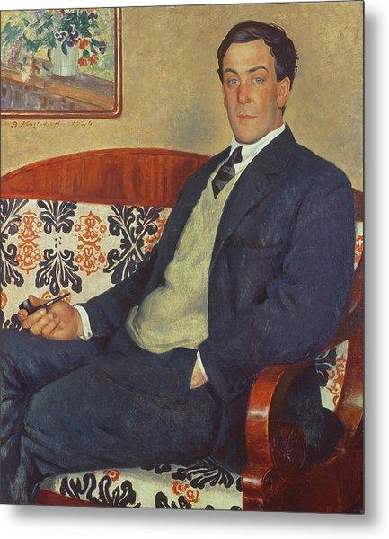 Portrait Of Peter Kapitza 1926 Metal Print