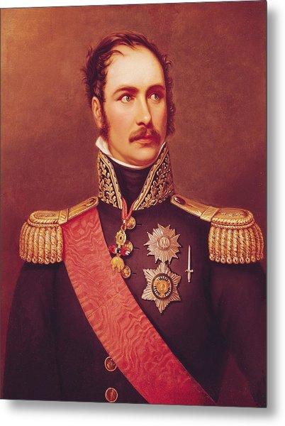 Portrait Of Prince Eugene De Beauharnais 1781-1824 Viceroy Of Italy And Duke Of Leuchtenberg Oil Metal Print