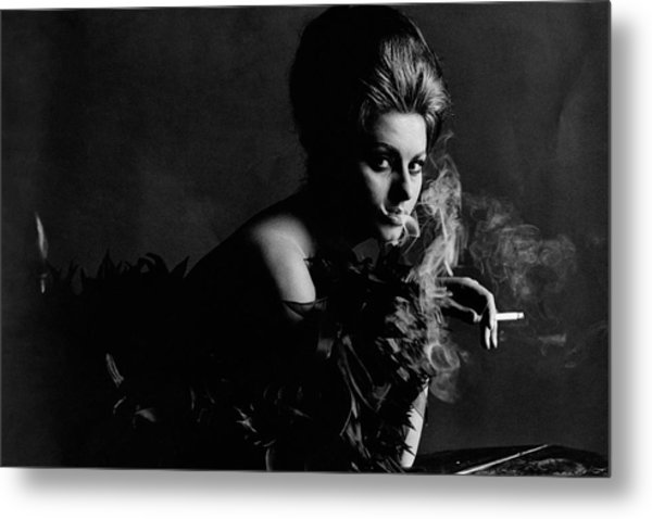 Portrait Of Sophia Loren Metal Print