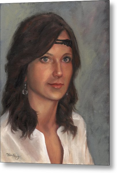 Portrait Of Taylor I Metal Print by Terri  Meyer