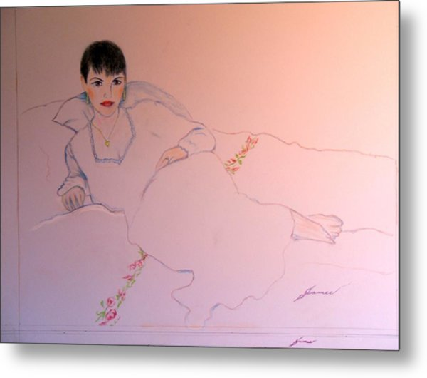 Portrait Of The Artists Wife Metal Print