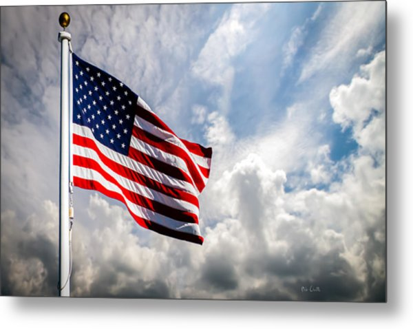 Portrait Of The United States Of America Flag Metal Print