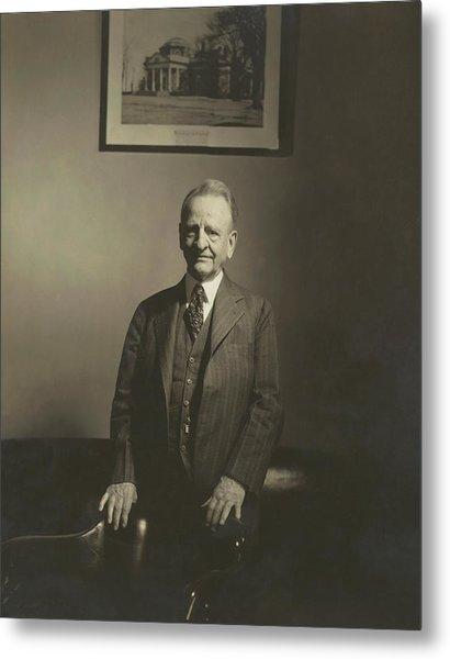 Portrait Of U.s. Congressman Metal Print by Edward Steichen