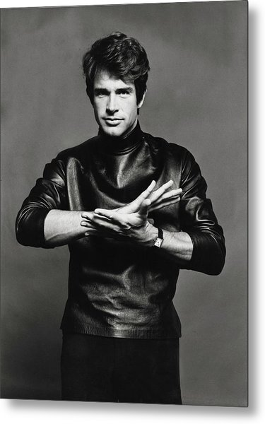 Portrait Of Warren Beatty Metal Print