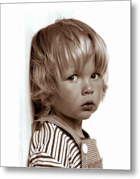 Portrait Young Boy   Metal Print
