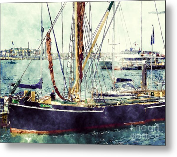 Portsmouth Harbour Boats Metal Print
