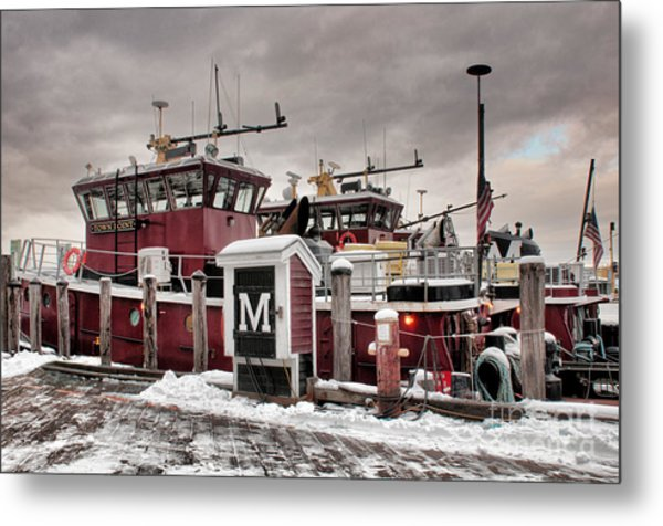 Portsmouth Tugboats Metal Print