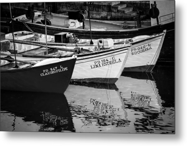 Portuguese Fishing Boats Metal Print