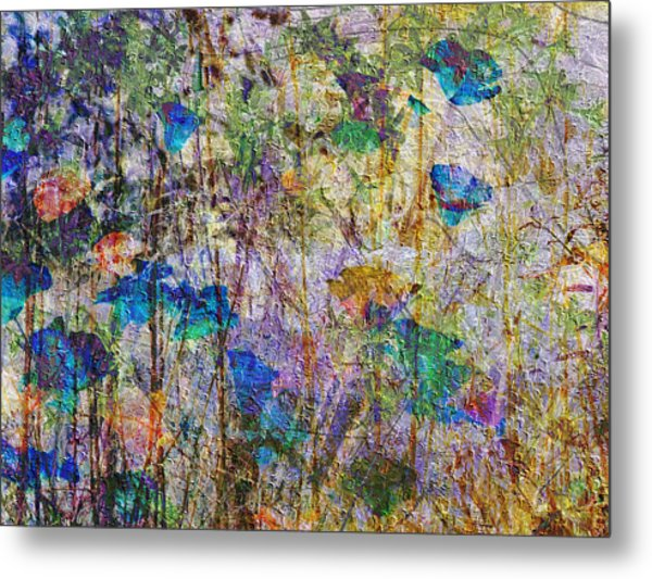 Posies In The Grass Metal Print